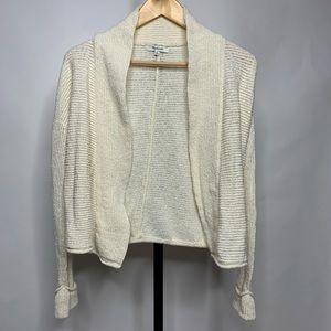 Madewell Off White Creme Light Cardigan Sweater
